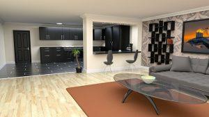 צביעת סלון בדירה